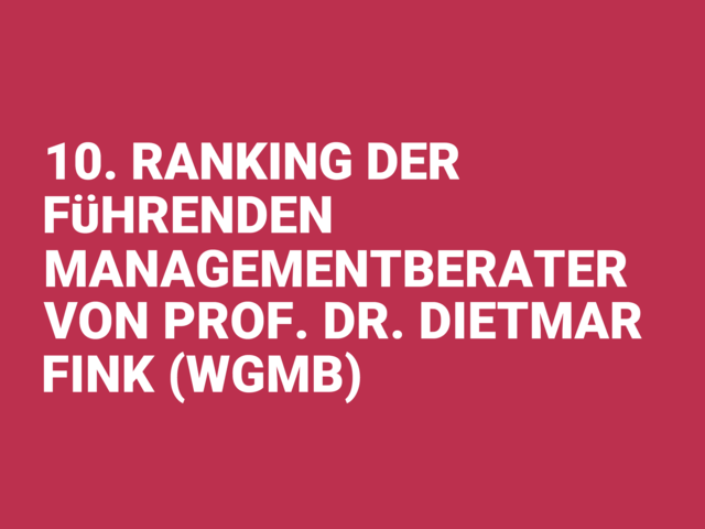 10 ranking der fuhrenden managementberater german award 2019
