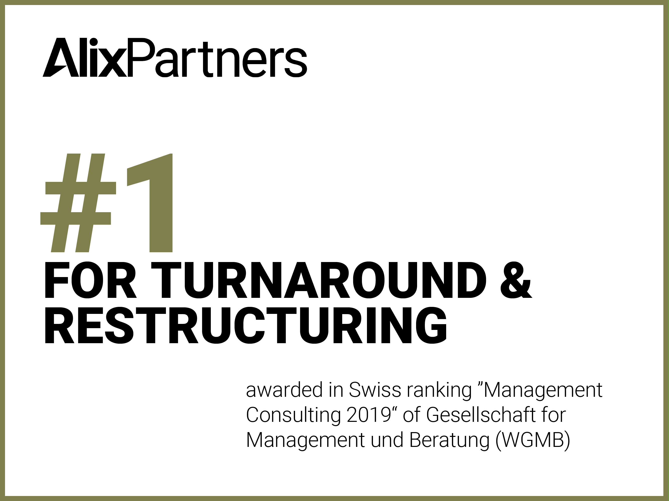 alxpartners named number one in turnaround and restructuring by management und beratung switzerland