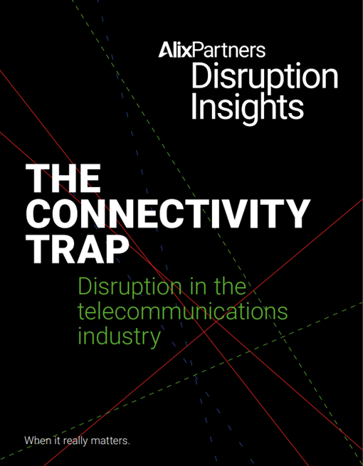 alixpartners disruption insights telecommunications cover 2020