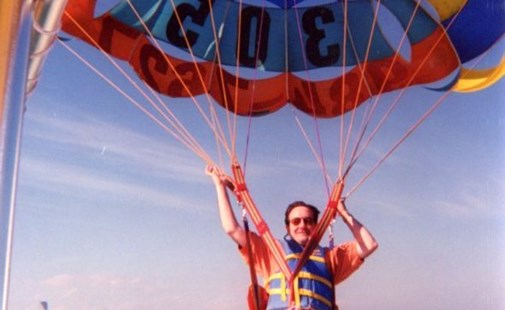 peter fitzsimmons parasailing at ap event