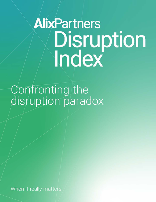alixpartners disruption index report cover 2021